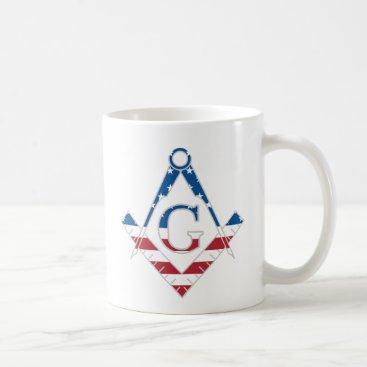 USA Themed USA Freemasonic symbol Coffee Mug