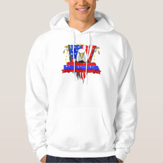USA Front Facing Eagle Hoodie