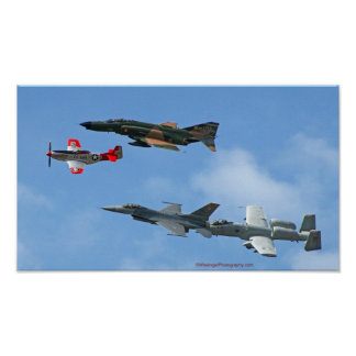 USA Generational Air Power Photo poster