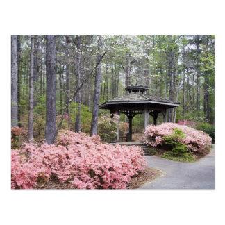 USA, Georgia, Pine Mountain. A gazebo amongst Postcard