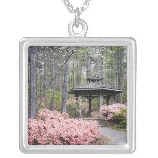 USA, Georgia, Pine Mountain. A gazebo amongst Silver Plated Necklace