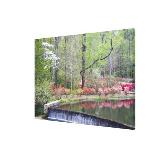 USA, Georgia, Pine Mountain. A small waterfall Canvas Print