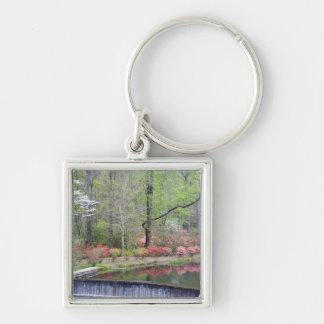 USA, Georgia, Pine Mountain. A small waterfall Keychain