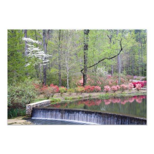 USA, Georgia, Pine Mountain. A small waterfall Photo Print