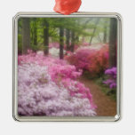 USA; Georgia; Pine Mountain. Azaleas at Square Metal Christmas Ornament