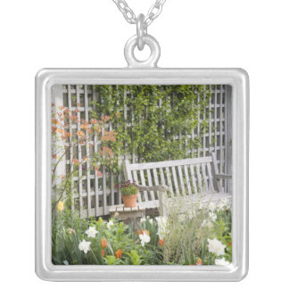 USA, Georgia, Pine Mountain. Chair in the Silver Plated Necklace