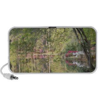 USA, Georgia, Pine Mountain. Trees and azaleas Portable Speaker