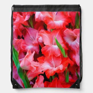 USA, Georgia, Savannah, Bouquet Of Gladiolus Drawstring Bag