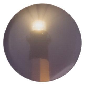 USA; Georgia; Savannah.  Tybee Island Lighthouse Melamine Plate
