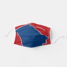 USA Georgia State Stars and Stripes Map Cloth Face Mask