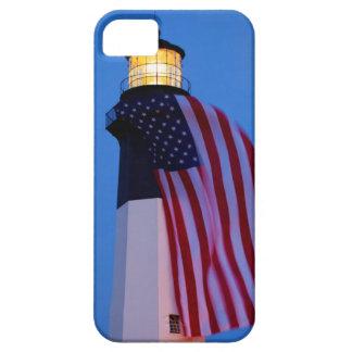 USA, Georgia, Tybee Island, Flag Flying 2 iPhone 5 Cover