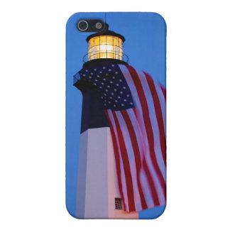 USA, Georgia, Tybee Island, Flag Flying 2 iPhone 5/5S Covers