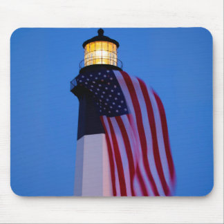 USA, Georgia, Tybee Island, Flag Flying 2 Mouse Pad