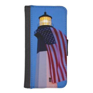 USA, Georgia, Tybee Island, Flag Flying 2 Phone Wallet Case