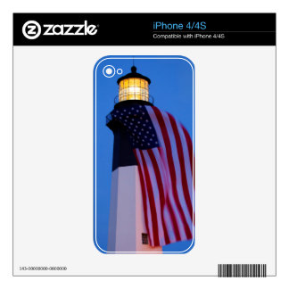 USA, Georgia, Tybee Island, Flag Flying 2 Decals For The iPhone 4S