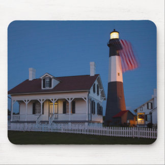 USA, Georgia, Tybee Island, Flag Flying Mouse Pad