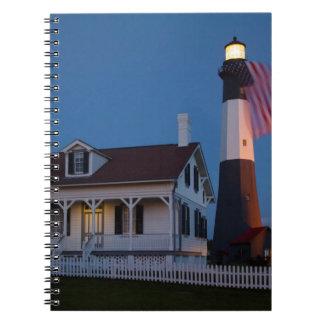USA, Georgia, Tybee Island, Flag Flying Note Book