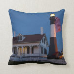 USA, Georgia, Tybee Island, Flag Flying Pillow