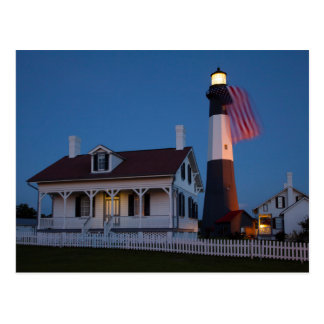 USA, Georgia, Tybee Island, Flag Flying Postcard