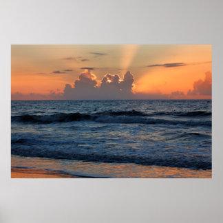 USA, Georgia, Tybee Island, Tybee Island Beach Poster