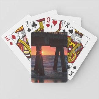 USA, Georgia, Tybee Island, Tybee Pier Poker Deck