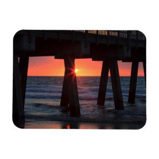 USA, Georgia, Tybee Island, Tybee Pier Rectangular Photo Magnet