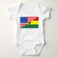usa ghana country half flag america symbol baby bodysuit
