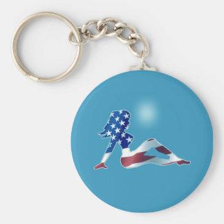USA Girl Blue Keychain