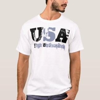 USA Girl Yoga, - Yoga philosophy. T-Shirt
