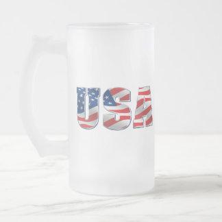 USA Glass Mug