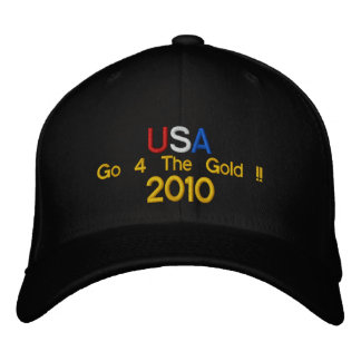 USA Go 4 The Gold 2010 Embroidered Baseball Cap
