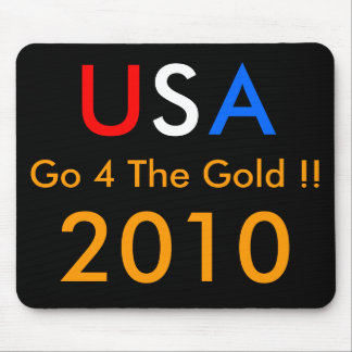 USA Go 4 The GOLD !! 2010 Mouse Pad