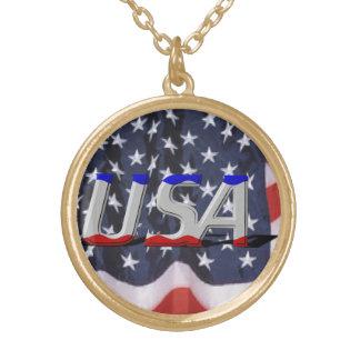 USA Gold Finish Necklace