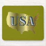 USA Gold+Petrol Mauspad
