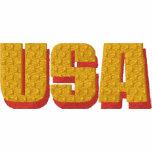 USA Gold Pocket Bald Eagle Liberty Or Death Embroidered Hooded Sweatshirt
