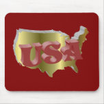 USA Gold-Rot 3D Mauspad