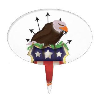 USA Golden Eagle Stars and Stripes crest Cake Topper
