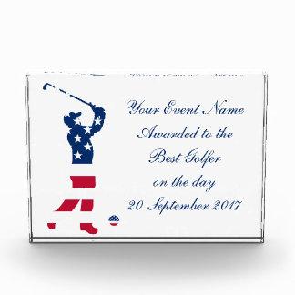 USA golf America flag golfer Award