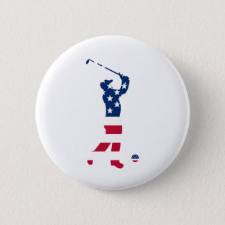 USA golf America flag golfer Button