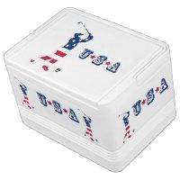 USA golf America flag golfer Drink Cooler