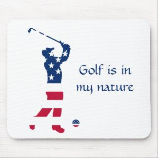 USA golf American flag golfer Mouse Pad