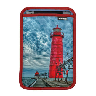 USA, Grand Haven, Michigan, lighthouse iPad Mini Sleeve
