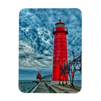USA, Grand Haven, Michigan, lighthouse Magnet