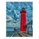 USA, Grand Haven, Michigan, lighthouse Postcard
