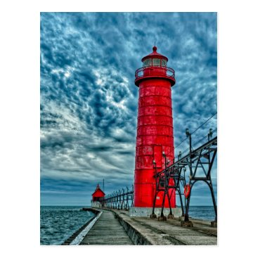 USA Themed USA, Grand Haven, Michigan, lighthouse Postcard