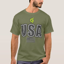 USA GRAY Flag T-Shirt