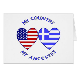 USA / Greek Country Ancestry Cards