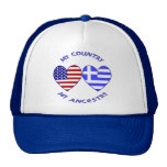 USA / Greek Country Ancestry Hats