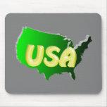 USA Grün+Gold 3D Mousepad