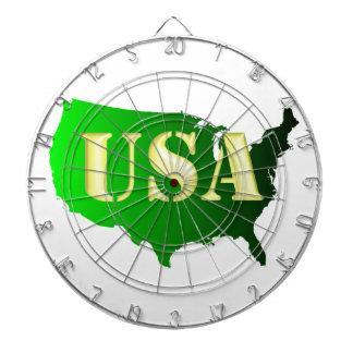 USA grün-gold Dartboard